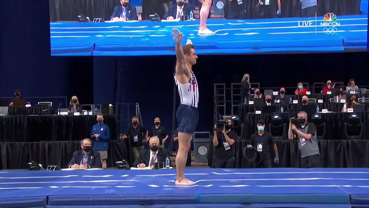 Sam Mikulak Vault Day 1 | Gymnastics U.S. Olympic Team Trials 2021