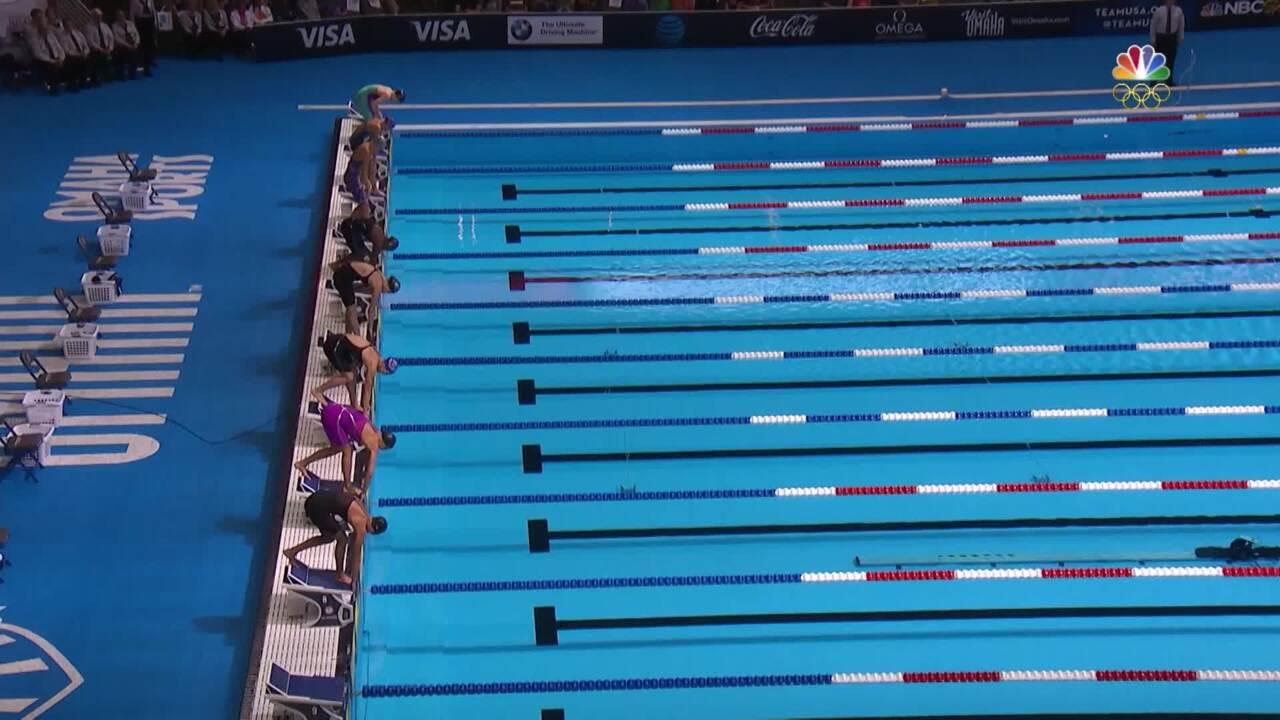 Olympic Swimming Trials   Simone Manuel Passes 50m Free Field In Semi