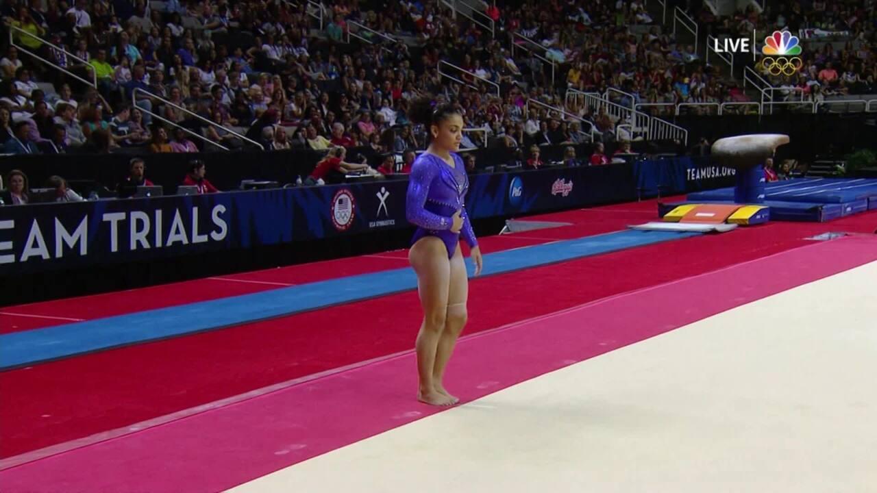 Olympic Gymnastics Trials   Laurie Hernandez Is Crowd Favorite On Floor