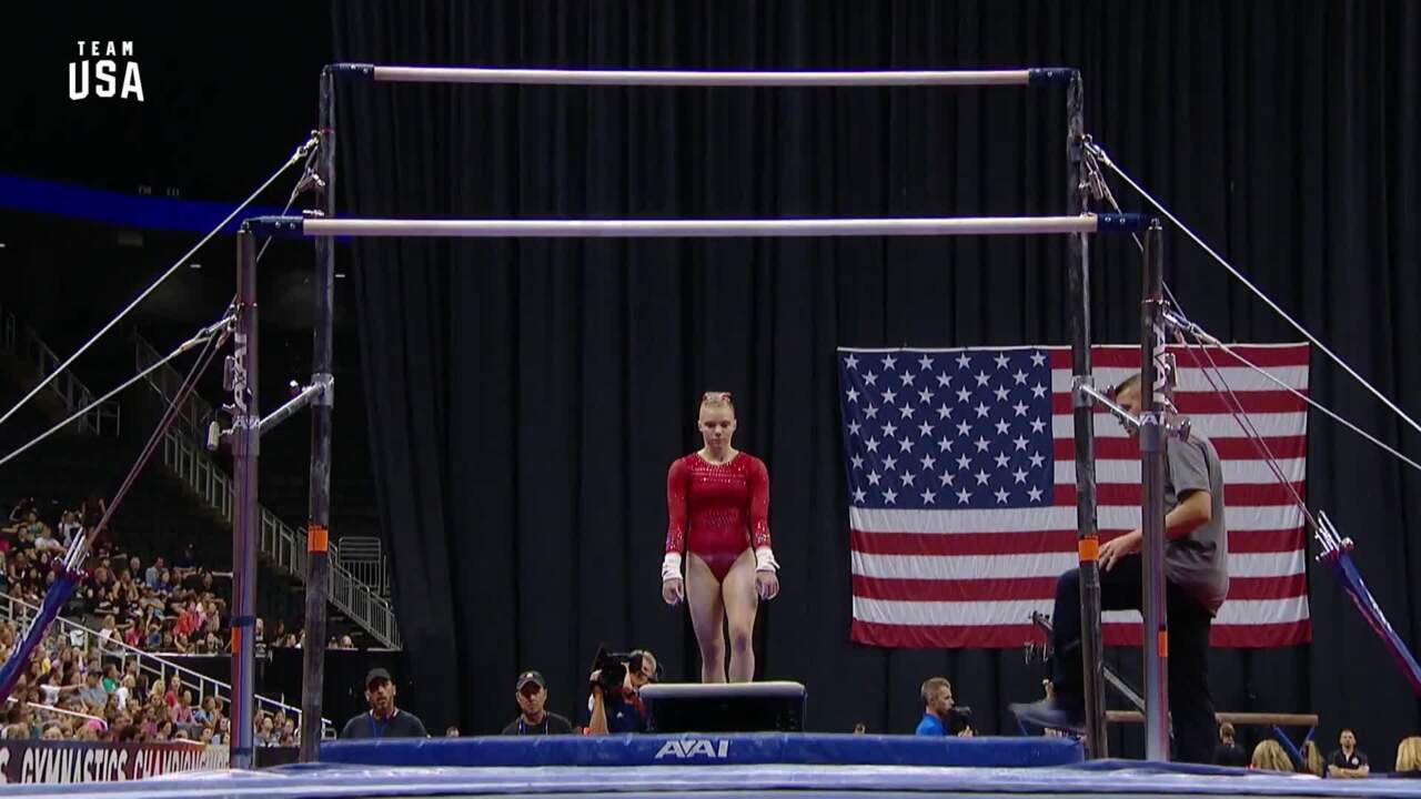Jade Carey Perfoms Uneven Bars | Champions Series Presented By Xfinity