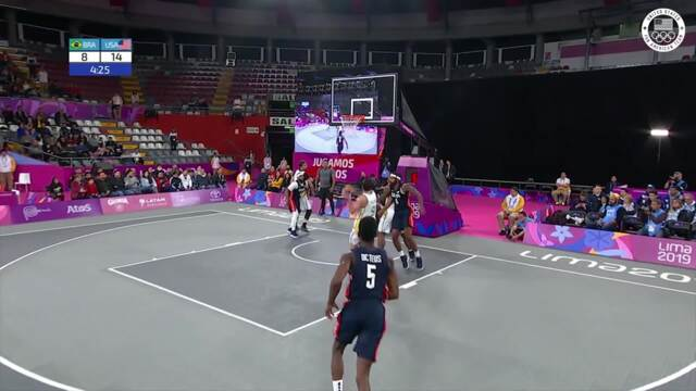 Men's 3x3 Basketball Wins Semifinals Against Brazil | Pan American Games Lima 2019