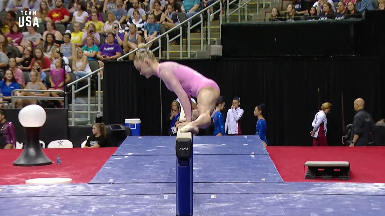 Riley McCusker Performs Beam Routine | Champions Series Presented By Xfinity