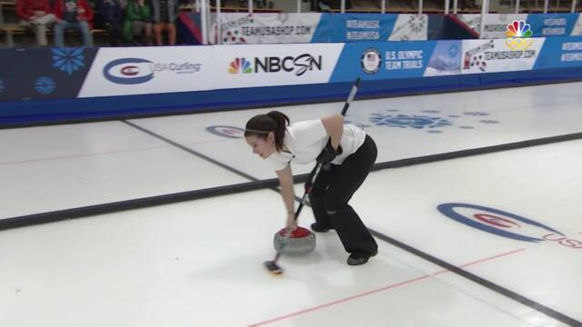 Olympic Mixed Doubles Curling Trials   Walker-Smith Even The Score Against Christensen-Shuster