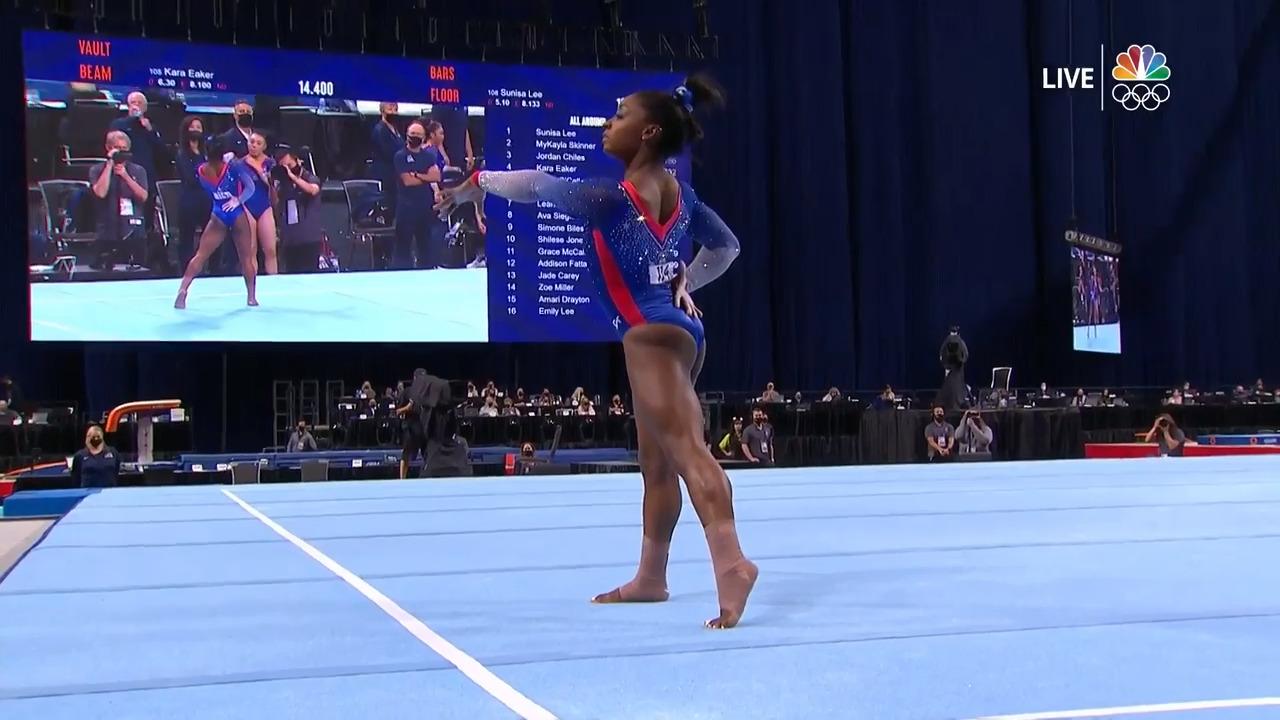 Simone Biles Floor Routine Day 1 | Gymnastics U.S. Olympic Team Trials 2021