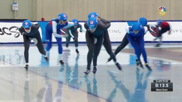 Olympic Long Track Speedskating Trials | Bergsma And Manganello Qualify For PyeongChang In Mass Start