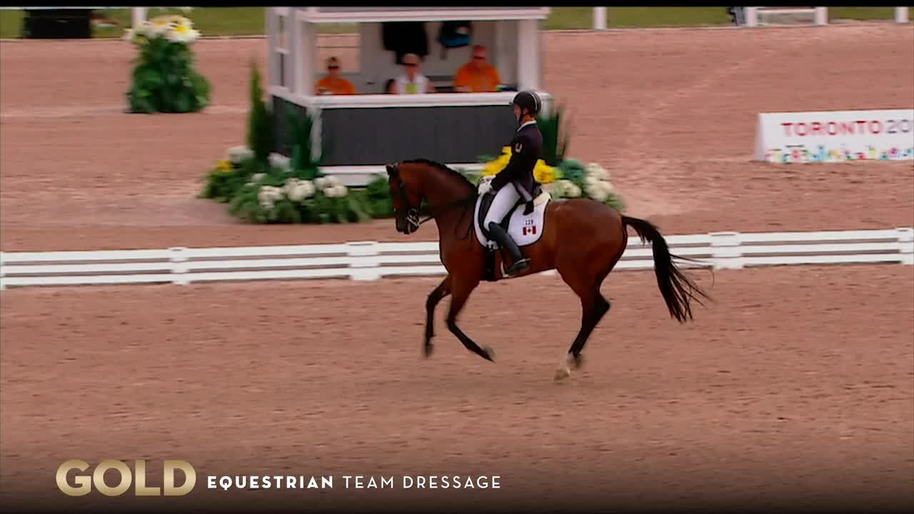 Team Dressage Takes Gold