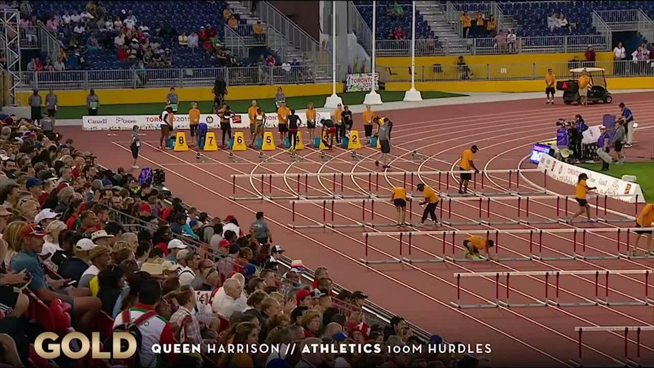 Queen Harrison Wins Gold In 100-meter Hurdles