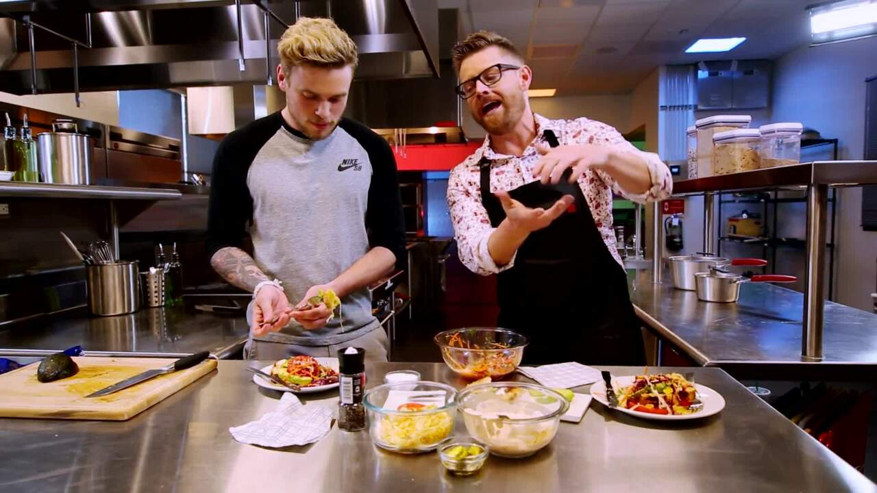Cooking With Team USA | Gus Kenworthy Literally Serves His Meals On A Silver Platter