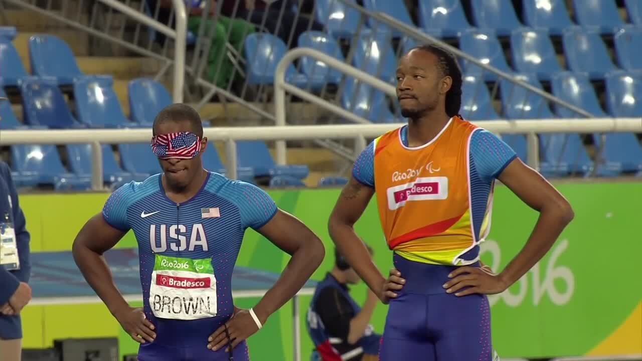 David Brown | Men's 400m T11 Round 1 | 2016 Paralympic Games