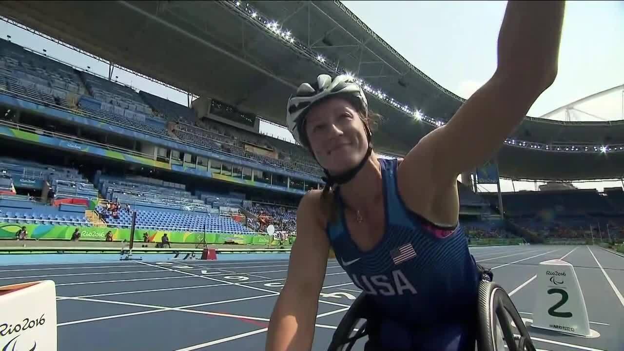 Tatyana McFadden | Women's 800M-T54 Heat 1 | 2016 Paralympic Games