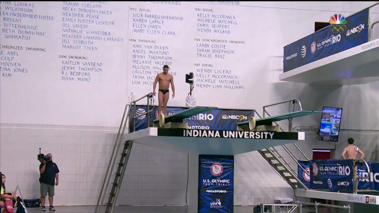 Olympic Diving Trials   Dumais Executes Key Dive In 3m Semifinals