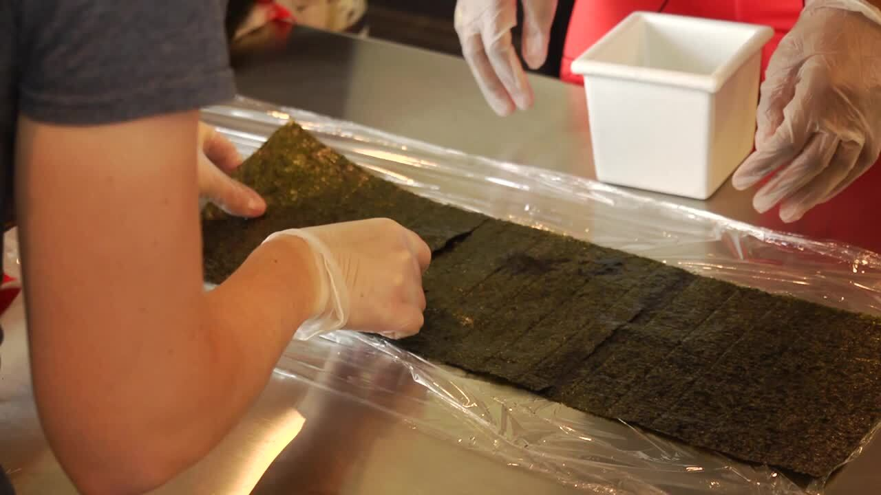Team USA Shows Off Giant Sushi Roll