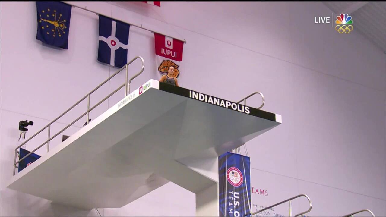 Olympic Diving Trials | Jessica Parratto's Round 4 Armstand Misses