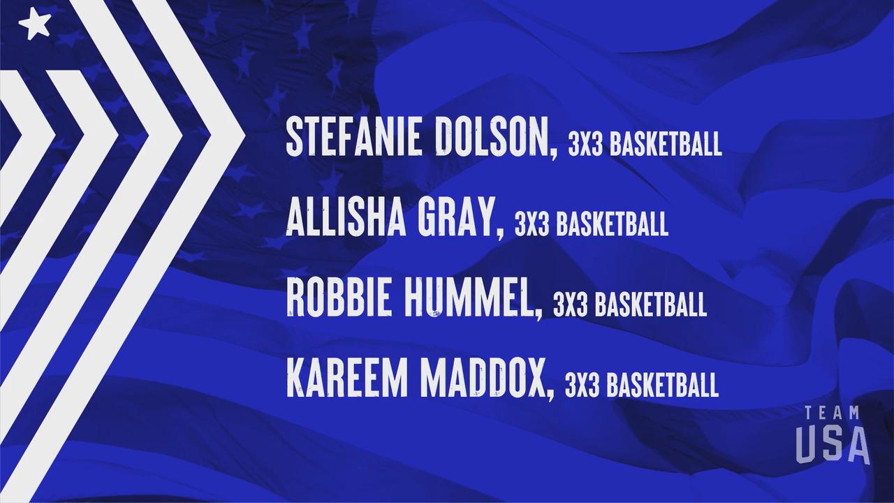 3x3 Basketball Stefanie Dolson, Allisha Gray, Robbie Hummel, Kareem Maddox | Tokyo 2020 Team USA Virtual Media Summit