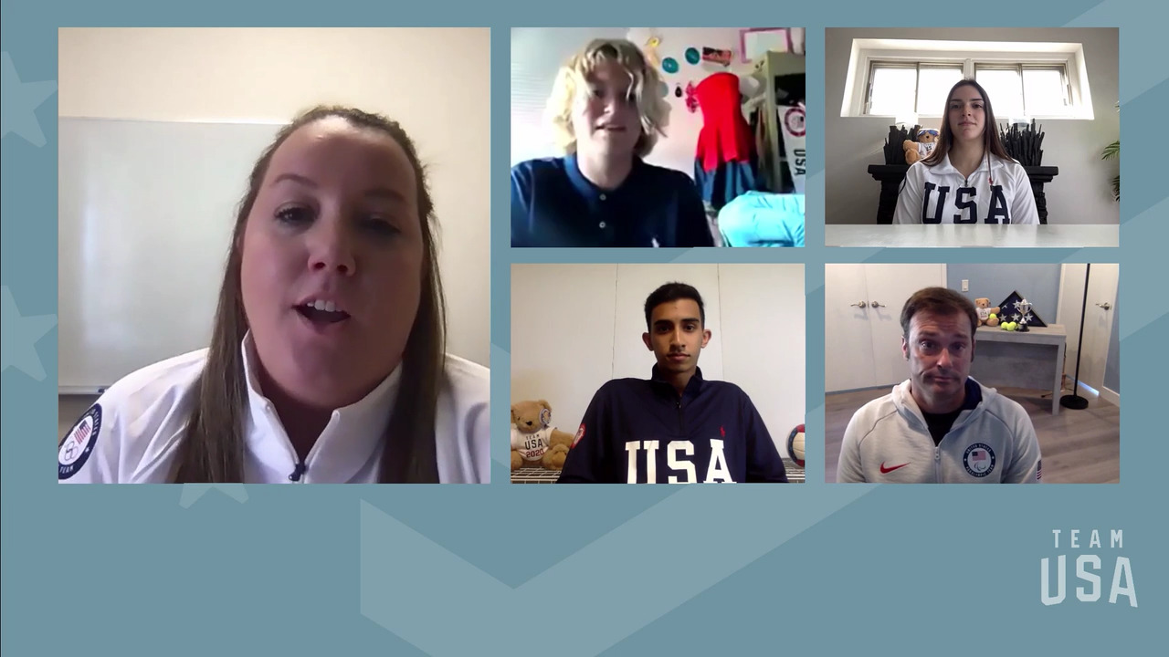 Nikhil Kumar, Brianna Salinaro, David Wagner, Bryce Wettstein   Tokyo 2020 Team USA Virtual Media Summit