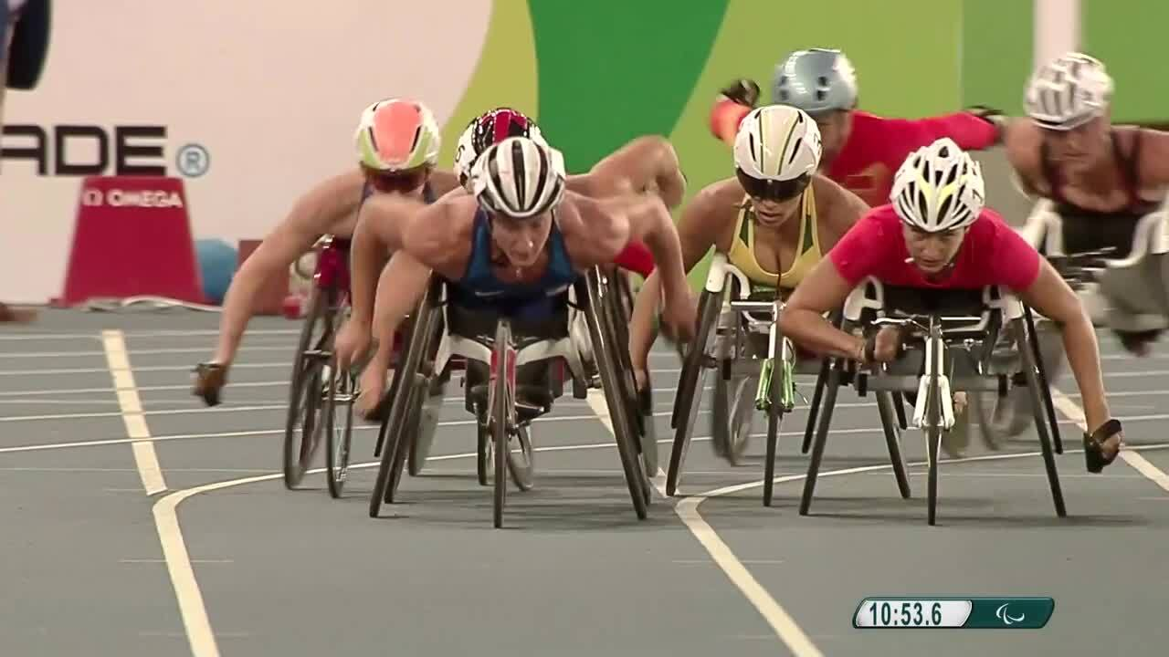 Tatyana McFadden USA Sweep | Athletics | Women's 5000m-T54 Highlight | 2016 Paralympic Games