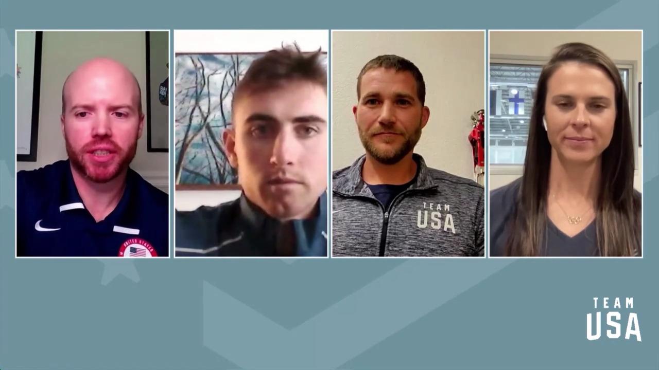 Brittany Bowe, Sean Doherty, Mike Schultz | Beijing 2022 Team USA Media Summit