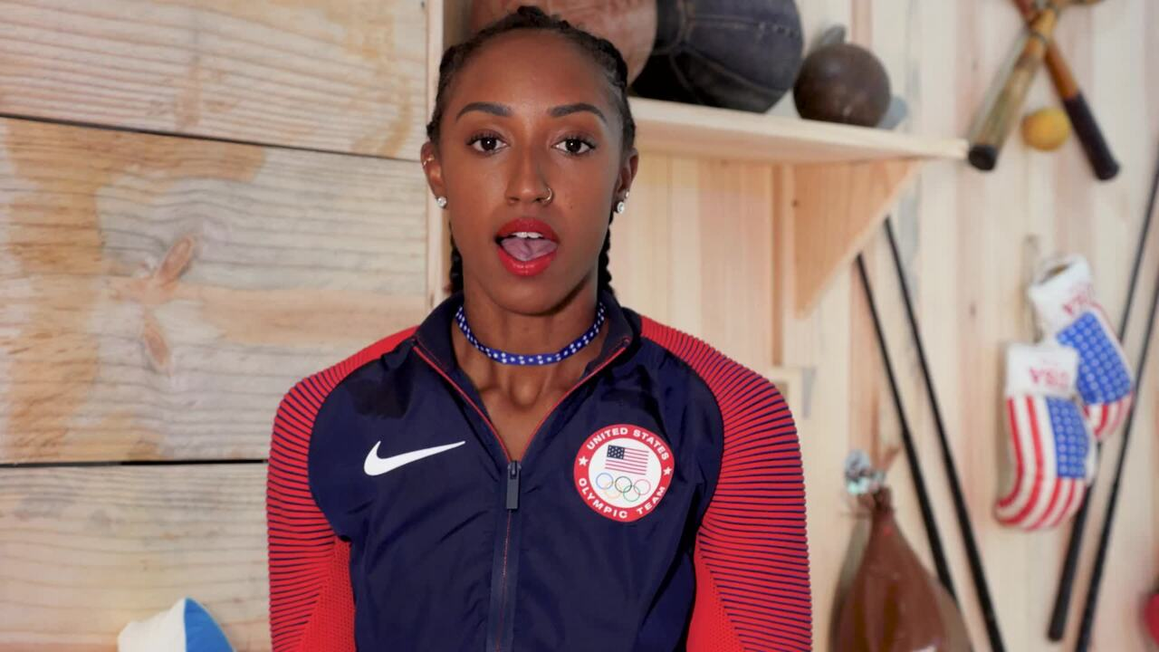 Brianna Rollins On Team USA's Podium Sweep