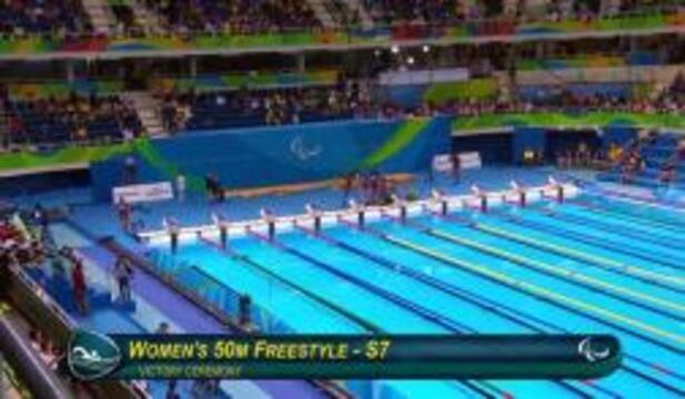 McKenzie Coan Gold Medal Ceremony | 50m Freestyle S7 | Rio 2016 Paralympic Games