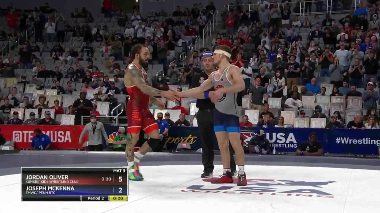 Jordan Oliver VS Joseph McKenna - Men's freestyle (65 kg.) | Wrestling U.S. Olympic Team Trials 2020