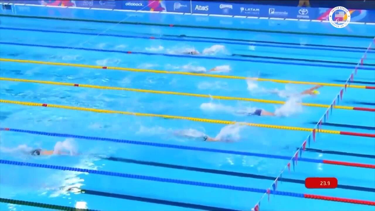 Carson Sanocki Sets Parapans Record in SM13 200M Individual Medley Highlight | Parapan American Games Lima 2019