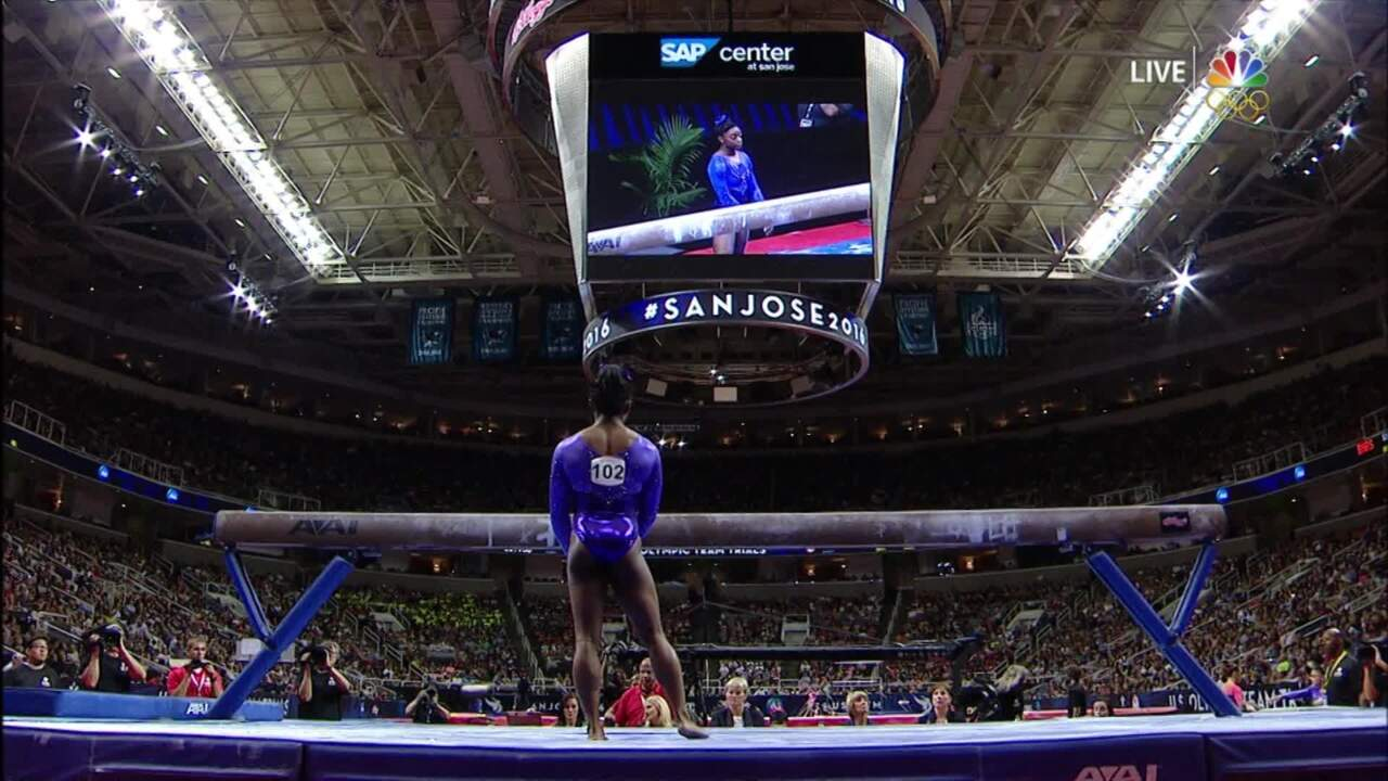 Olympic Gymnastics Trials | Simone Biles Recovers From Struggle On Balance Beam
