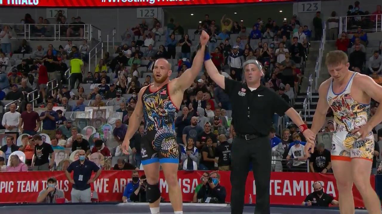 Kyle Snyder VS Kollin Moore -  Men's freestyle (97 kg.) | Wrestling U.S. Olympic Team Trials 2020
