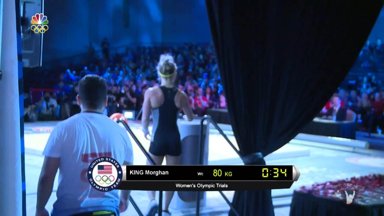 Morghan King Completes Her Lifts At The 2016 U.S. Olympic Team Trials