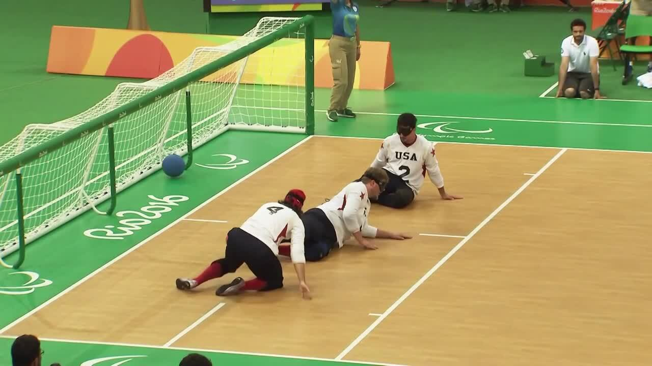 USA vs LTU | SILVER | Men's Goalball Gold Medal Game Highlight | 2016 Paralympic games