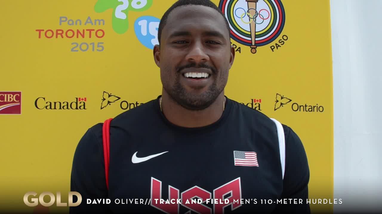 David Oliver Smashes Pan Am Record