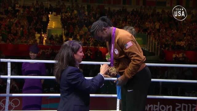 Claressa Shields Becomes First American Woman To Win Boxing Gold | Gold Medal Moments Presented By HERSHEY'S