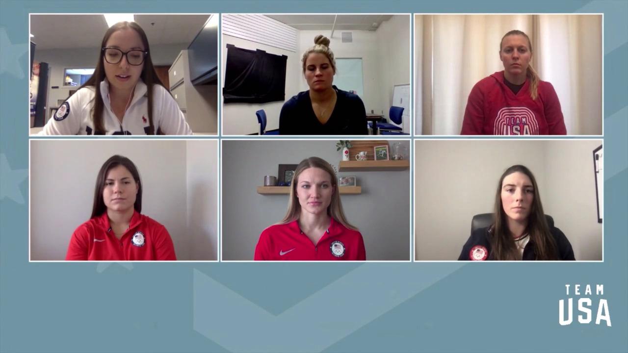 Kendall Coyne Schofield, Brianna Decker, Hilary Knight, Abby Roque, Lee Stecklein  | Beijing 2022 Team USA Media Summit