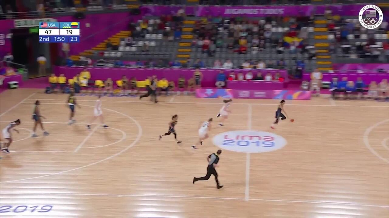 U.S. Women's Basketball vs Colombia | Pan American Games Lima 2019