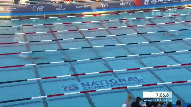 Katie Ledecky Dominates 800m Freestyle | Summer Champions Series | 2018 Phillips 66 National Championships