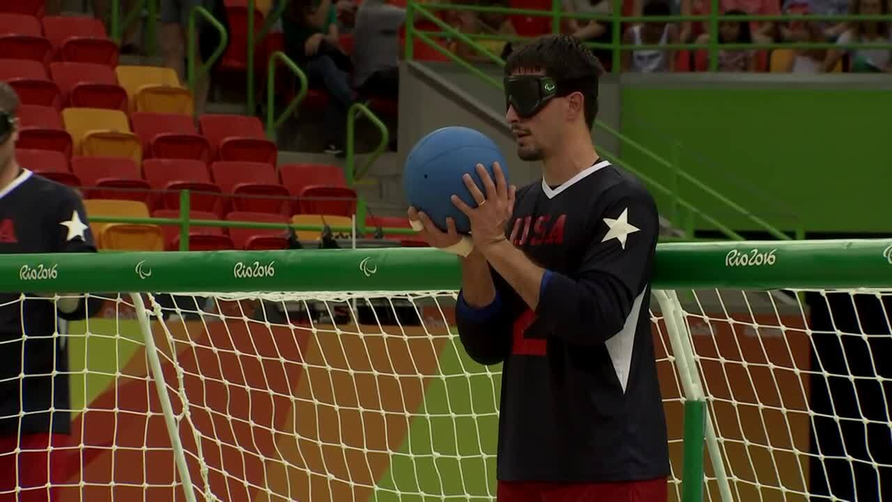 Men's Goalball | USA vs Brazil Day Semifinal Highlight | 2016 Paralympic Games
