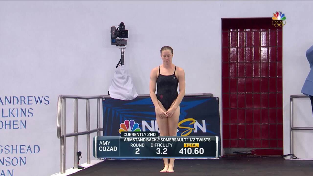 Olympic Diving Trials    Cozad's Semifinal Armstand Earns 72 Points