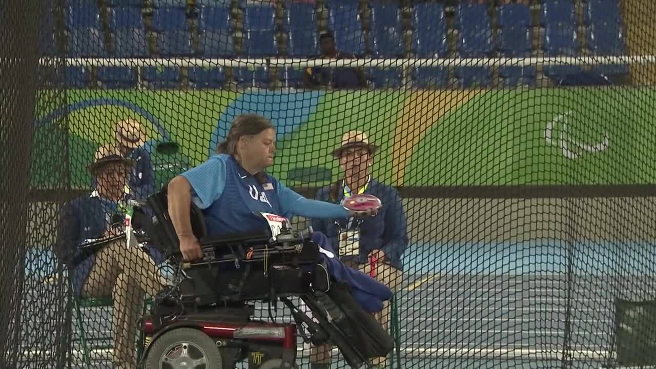 Zena Cole | Women's Discus Throw F52 Final Throw 3 | 2016 Paralympic Games
