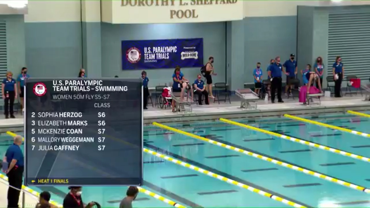 Para Swimming Women's 50-Meter Fly S5-S7 | U.S. Paralympic Team Trials 2021