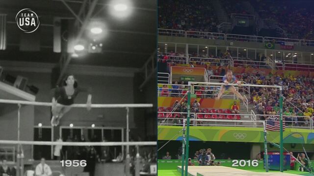 Then & Now: Uneven Bars