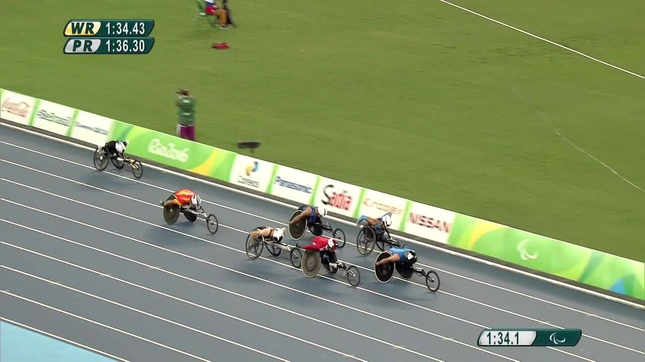 Brian Siemann and Joshua George | Men's 800m T53 Final | 2016 Paralympic Games