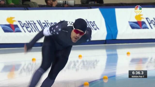 Olympic Long Track Speedskating Trials | Boutiette And Cepuran Skate The Men's 5,000-Meter