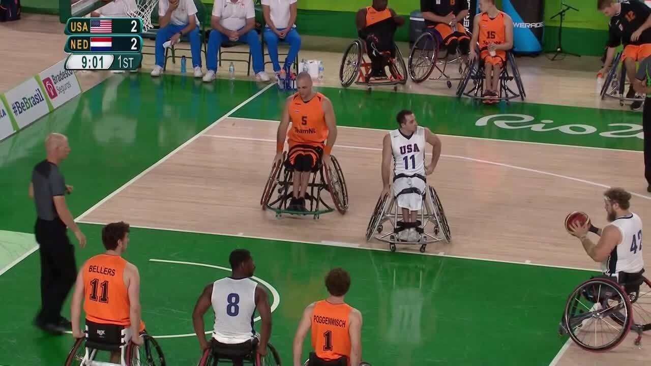 Men's Wheelchair Basketball | USA vs Netherlands Quarterfinal | 2016 Paralympic Games