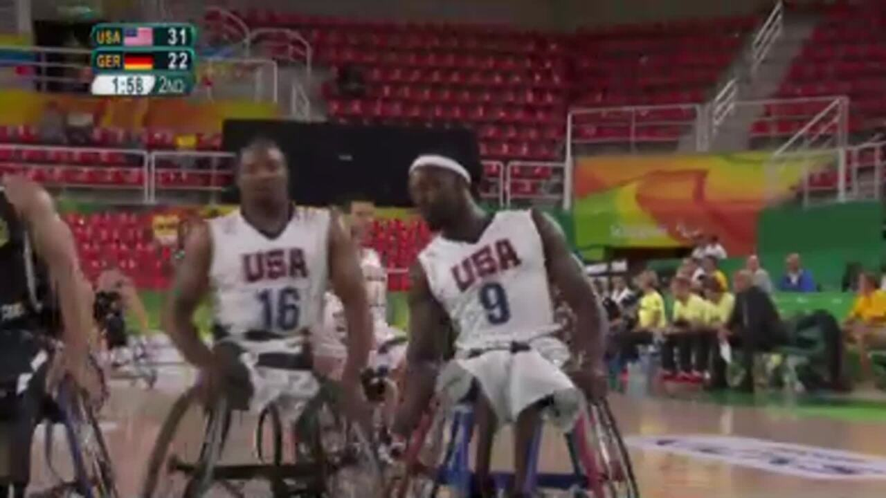 Men's Wheelchair Basketball | USA vs Germany | 2016 Paralympic Games
