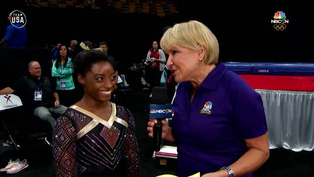Simone Biles Talks About Night One At U.S. Gymnastics Championships | Summer Champions Series