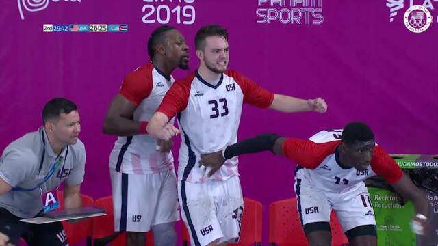 Men's Handball Team Squeaks Out W Over Cuba | Pan American Games Lima 2019