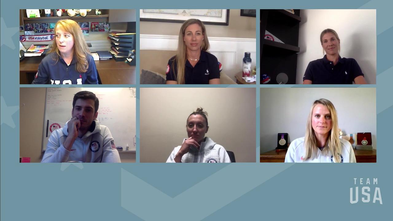 Matt Anderson, Alix Klineman, Jordan Larson, April Ross, Lora Webster | Tokyo 2020 Team USA Virtual Media Summit