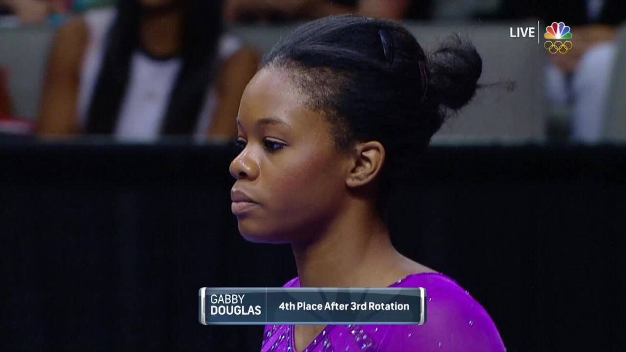 Olympic Gymnastics Trials | Gabby Douglas Falls Off Beam To 7th Place