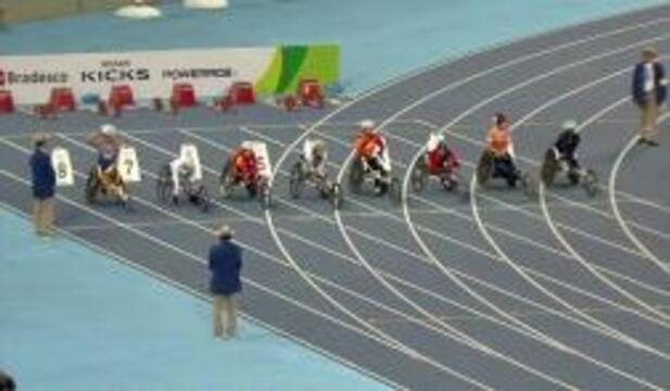 Tatyana McFadden Silver Medal | Women's T54 100m Final | 2016 Paralympics
