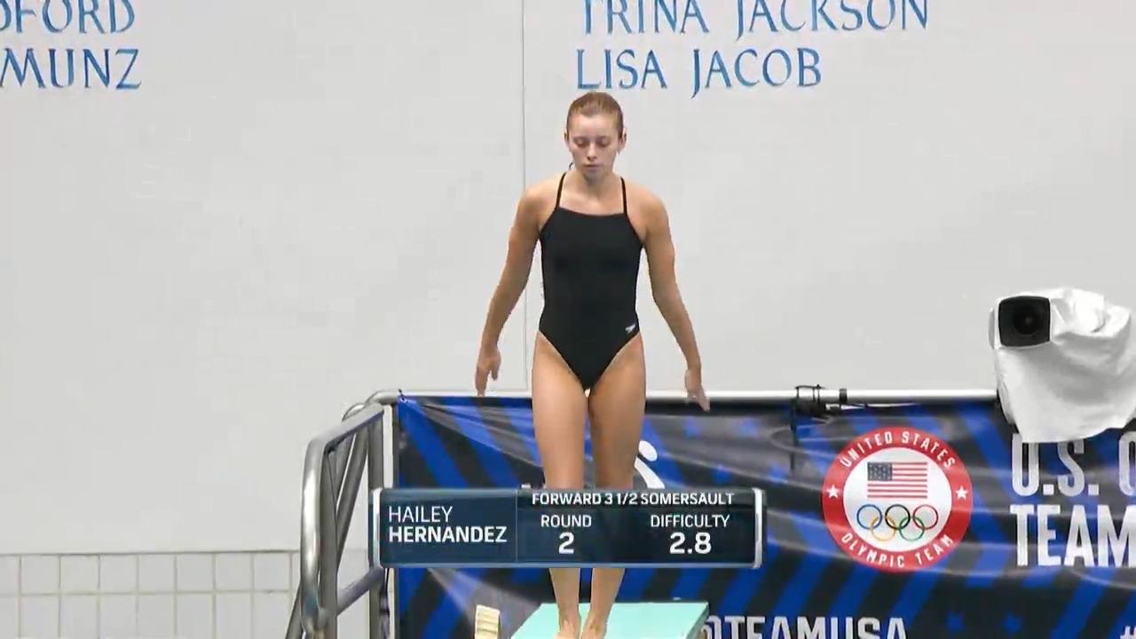 Hailey Hernandez Women's 3-Meter Springboard Semifinals   Diving U.S. Olympic Team Trials 2021