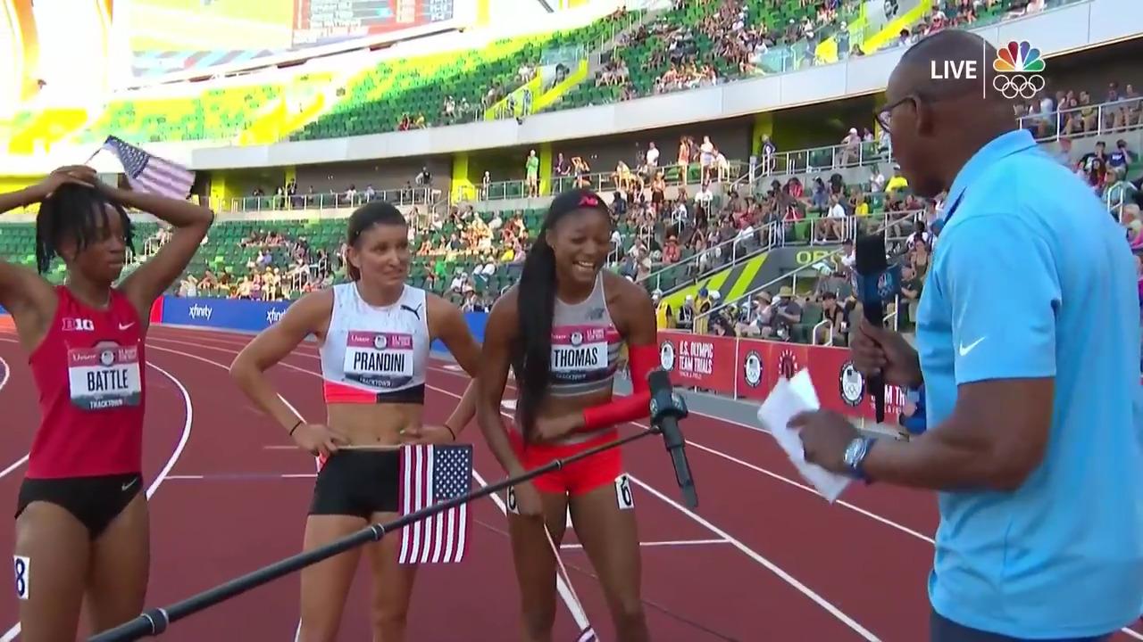 Women's 200 Meters Post Race Interview | Track & Field U.S. Olympic Team Trials 2021